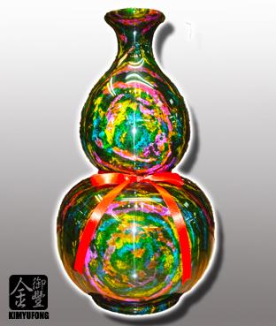 七彩藝石福祿葫蘆 Rainbow ArtStone Vase(Gourd)