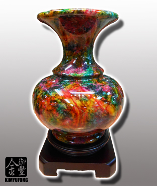 七彩藝石客製花瓶 Rainbow Art Stone Vase(Customizable)