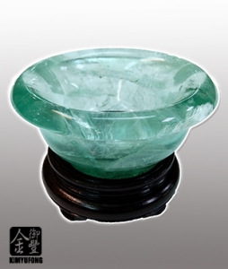 冷翡翠玉碗 Fluorite Bowl