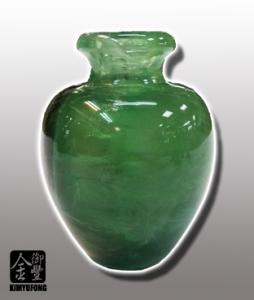 冷翡翠富貴甕 Fluorite Vase