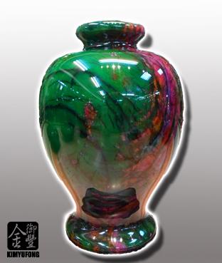 牡丹翡翠客製美人瓶 Peony EmeraldStone Vase(Customizable)