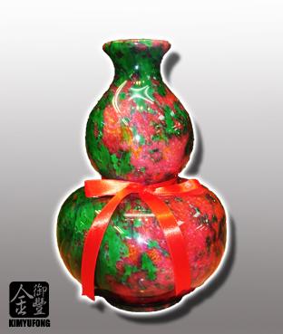 牡丹翡翠福祿葫蘆 Peony EmeraldStone Vase(Gourd)