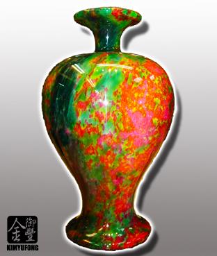 牡丹翡翠美人瓶 Peony EmeraldStone Vase