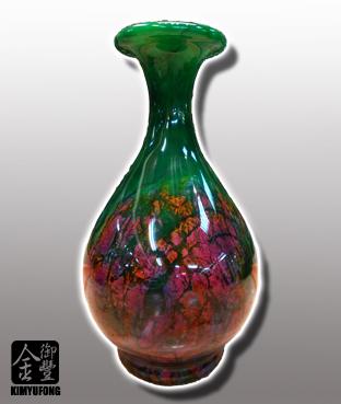 牡丹翡翠客製花瓶 Peony EmeraldStone Vase(Customizable)