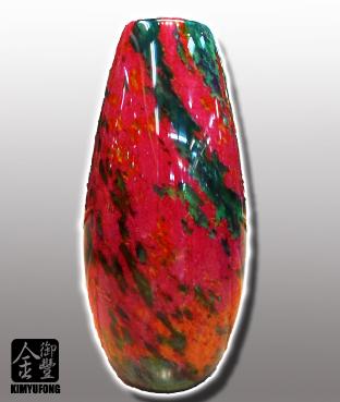 牡丹翡翠花瓶 Peony EmeraldStone Vase