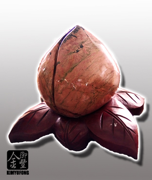 玫瑰石仙桃雕刻 Rose Stone Sculpture(Peach)