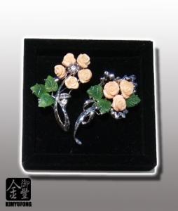 粉紅珊瑚胸針 Pink Coral Broochs