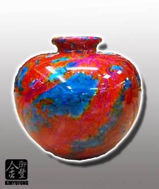 花海藍寶聚寶盆 Ocean GardenStone Vase