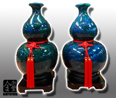 花海藍寶雙喜葫蘆 Ocean GardenStone Vases(Gourd)