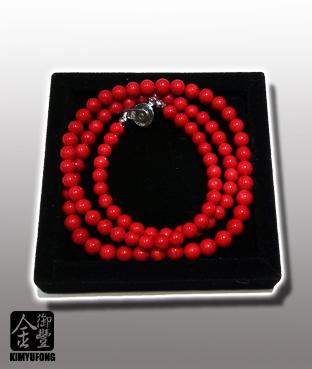 赤紅珊瑚項鍊 A-Ka Coral Necklace