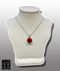 赤紅珊瑚圓珠項鍊 A-ka Coral Necklace(Round)