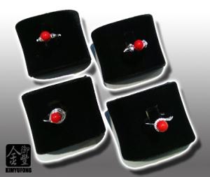 赤紅珊瑚圓珠女戒 A-ka Coral Rings(Round)