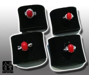 赤紅珊瑚蛋面女戒 A-ka Coral Rings(Oval)