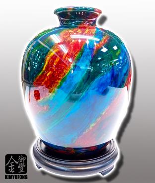 霓虹碧玉富貴甕 Colorful LuckyStone Vase
