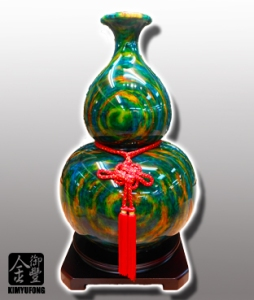 霓虹碧玉福祿葫蘆 Colorful LuckyStone Vase(Gourd)