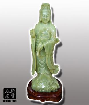 青玉楊柳觀音雕刻 Green Jade Sculpture(Guanyin)
